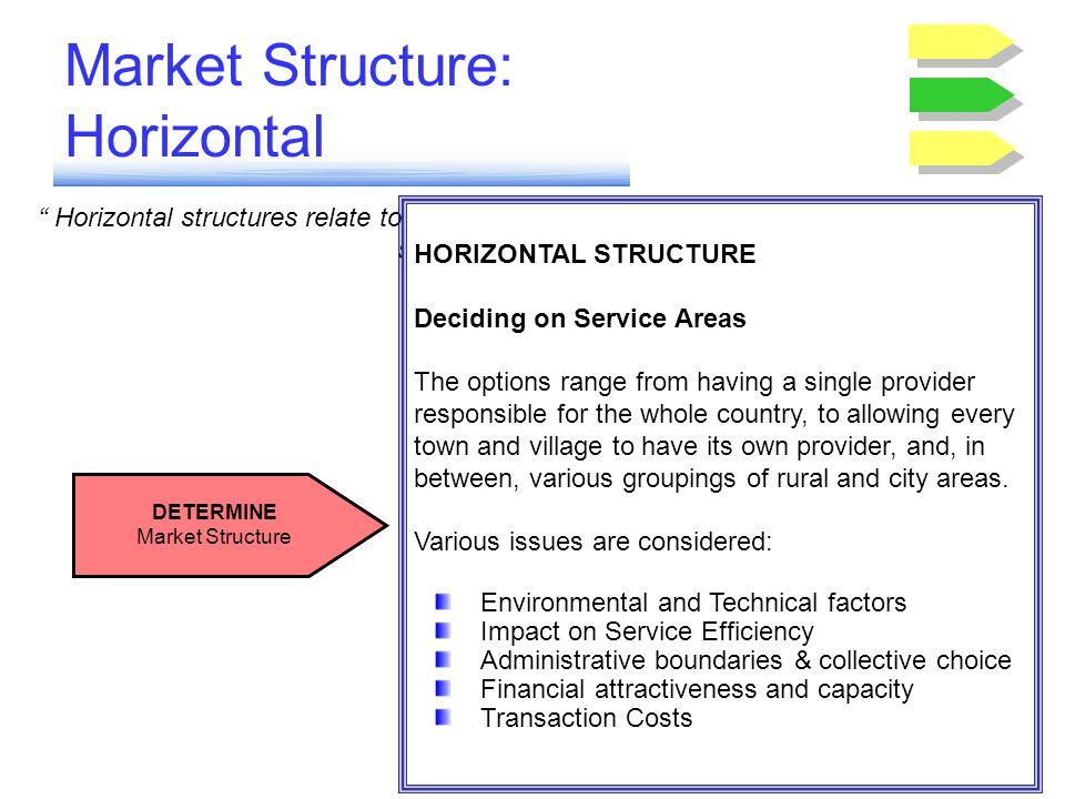 Market Structure: Horizontal