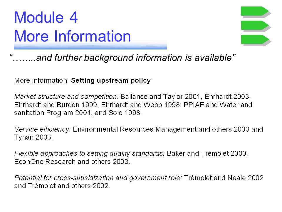 Module 4 More Information