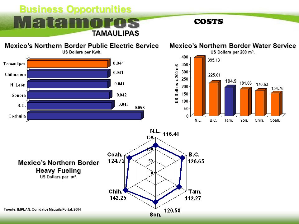 COSTS Mexico's Northern Border Public Electric Service