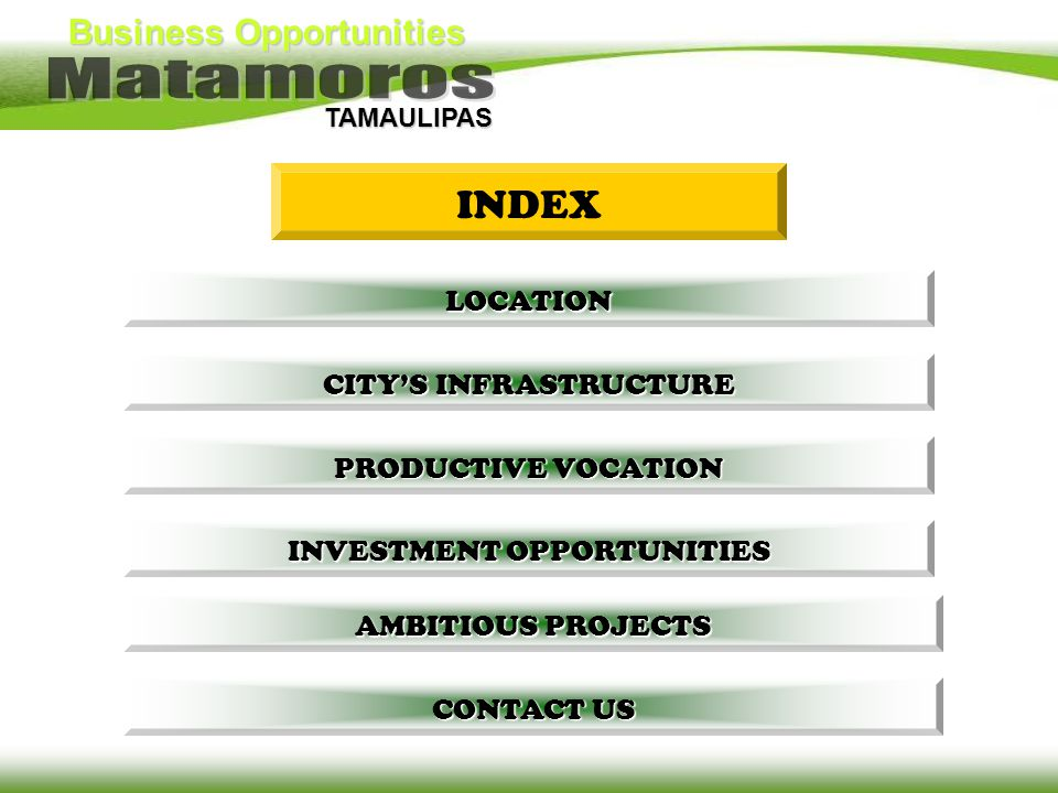 INDEX LOCATION CITY'S INFRASTRUCTURE PRODUCTIVE VOCATION