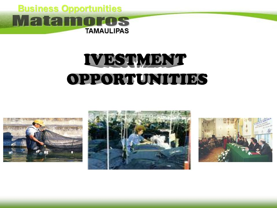 IVESTMENT OPPORTUNITIES