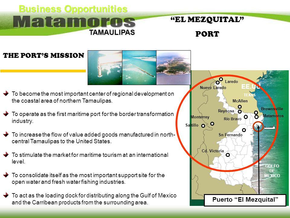 EL MEZQUITAL PORT THE PORT'S MISSION EE.UU. Puerto El Mezquital