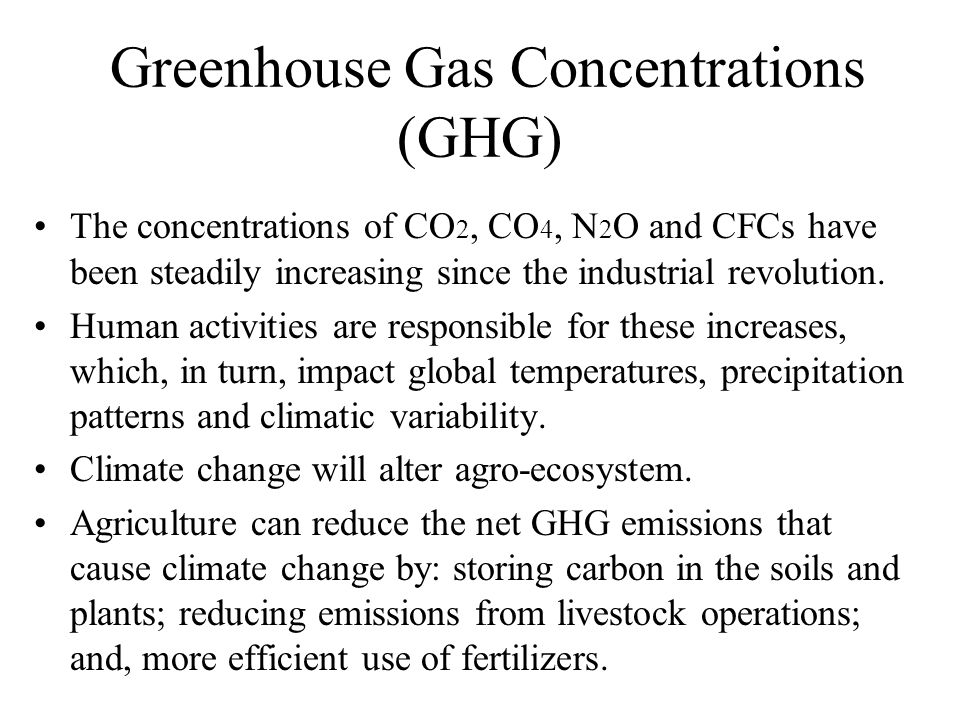 Greenhouse Gas Concentrations (GHG)