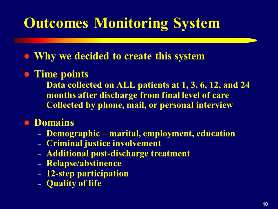 Outcomes Monitoring System
