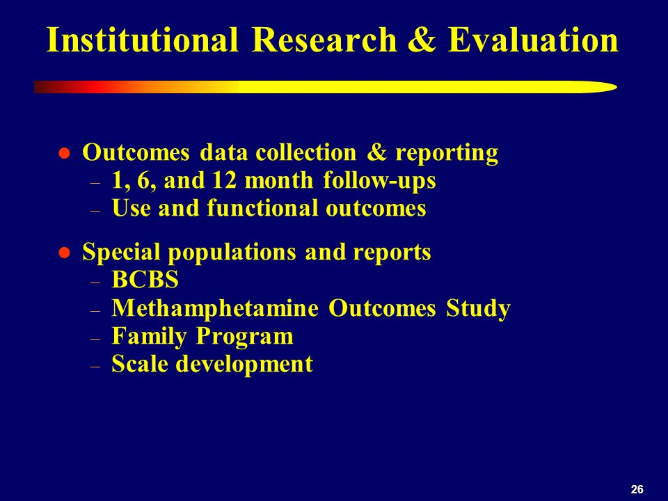 Institutional Research & Evaluation
