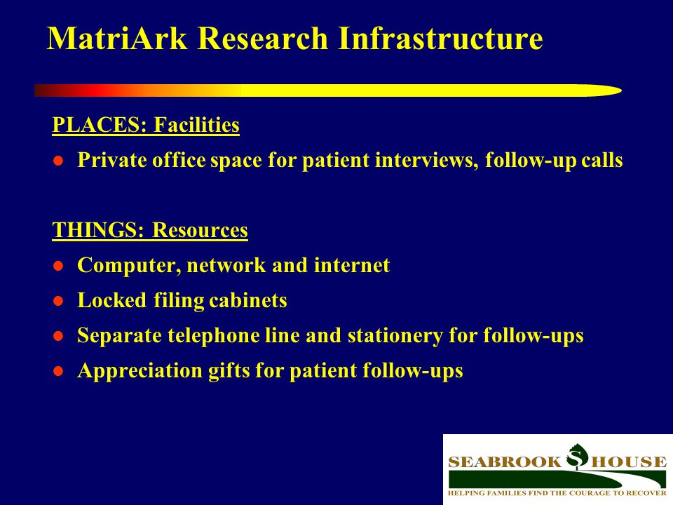 MatriArk Research Infrastructure