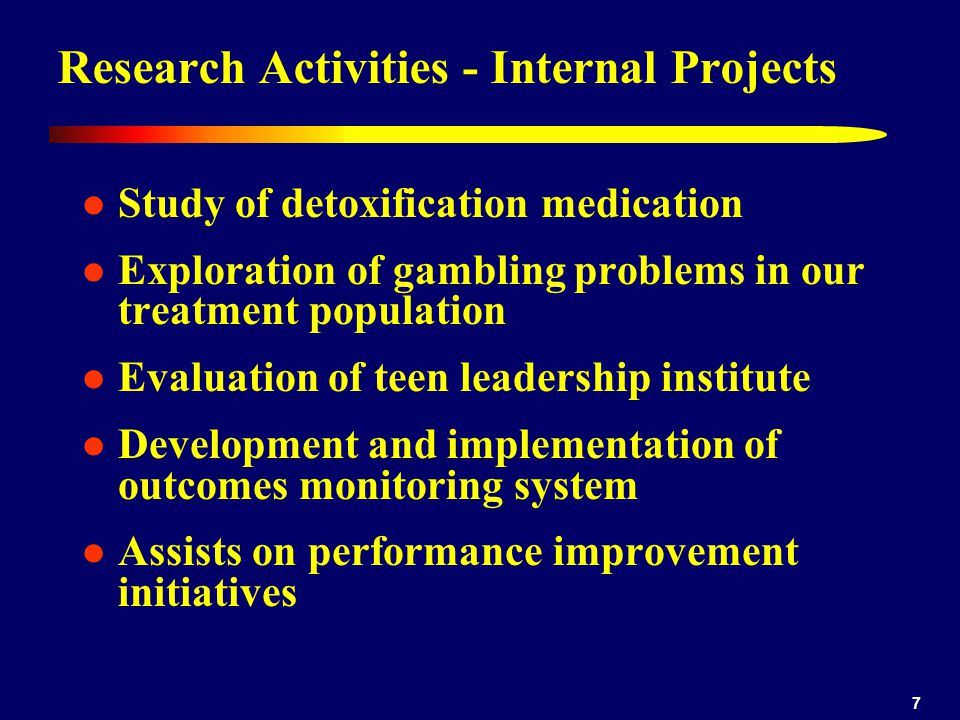 Research Activities - Internal Projects