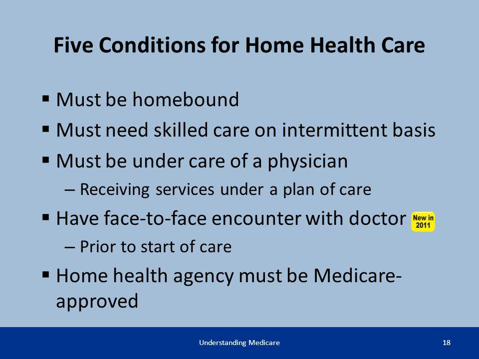 Five Conditions for Home Health Care