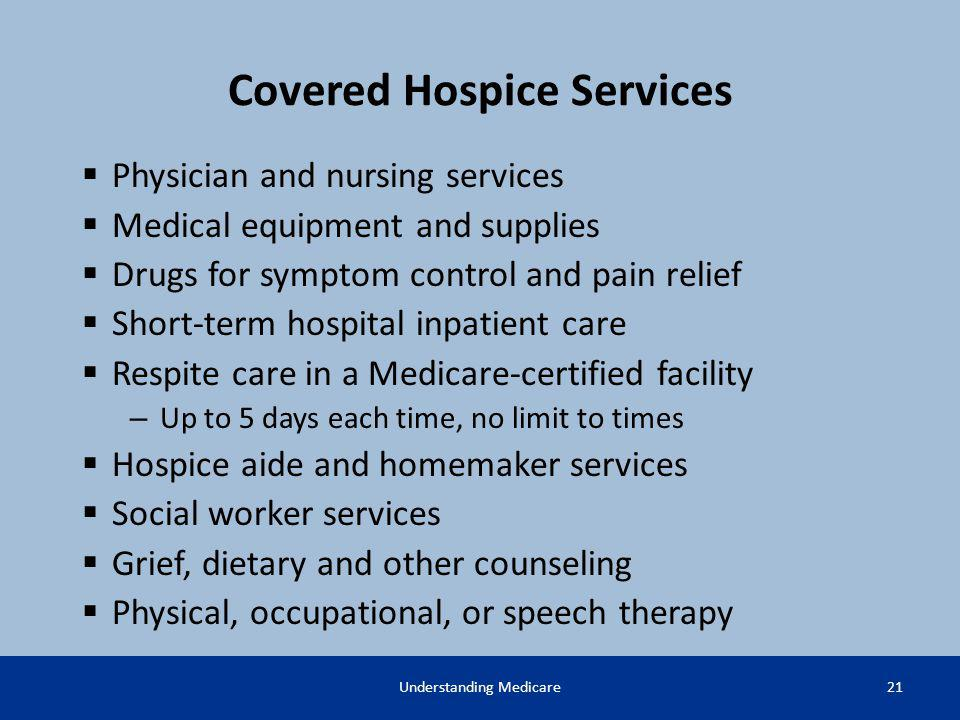 Covered Hospice Services