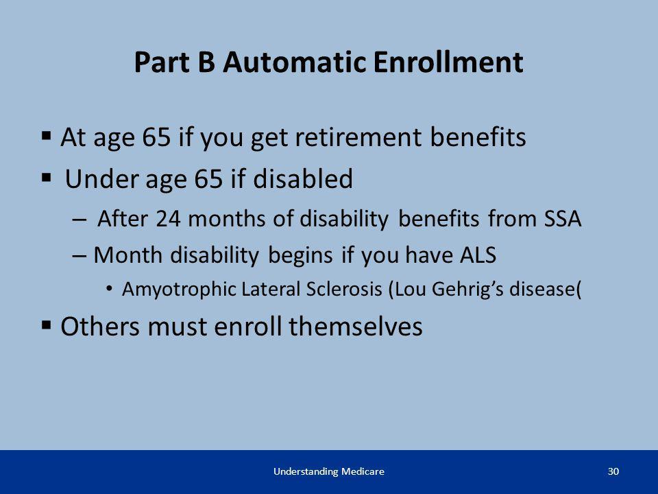 Part B Automatic Enrollment