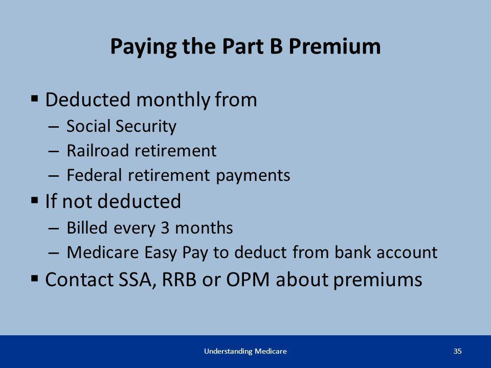 Paying the Part B Premium