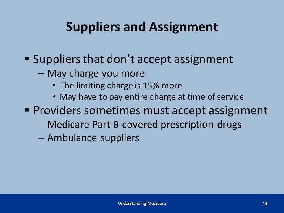 Suppliers and Assignment