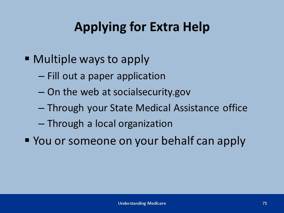 Applying for Extra Help