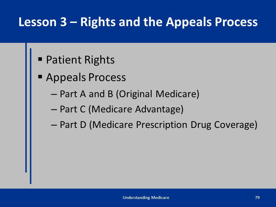 Lesson 3 – Rights and the Appeals Process