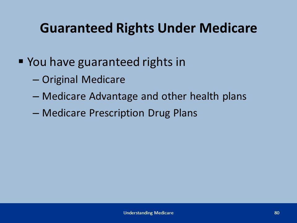 Guaranteed Rights Under Medicare