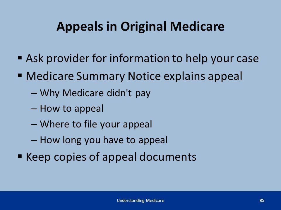 Appeals in Original Medicare