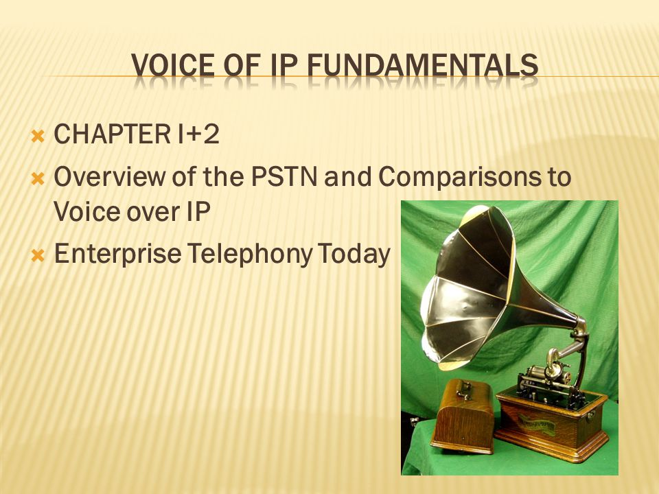 Voice of IP Fundamentals