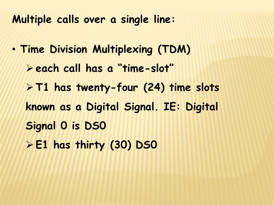 Multiple calls over a single line: