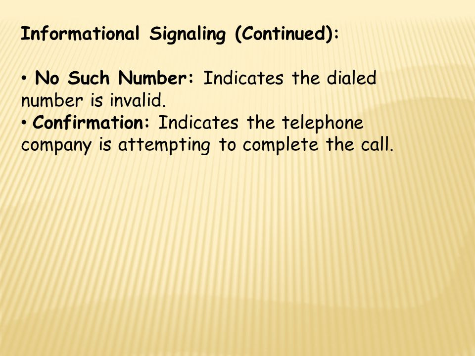 Informational Signaling (Continued):
