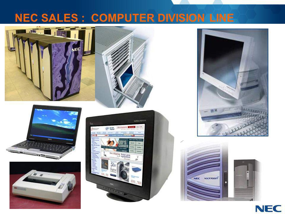 NEC SALES : COMPUTER DIVISION LINE