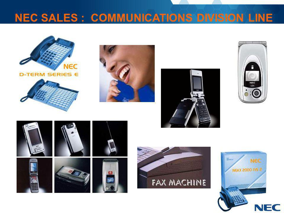 NEC SALES : COMMUNICATIONS DIVISION LINE