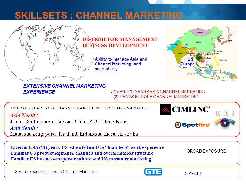 SKILLSETS : CHANNEL MARKETING