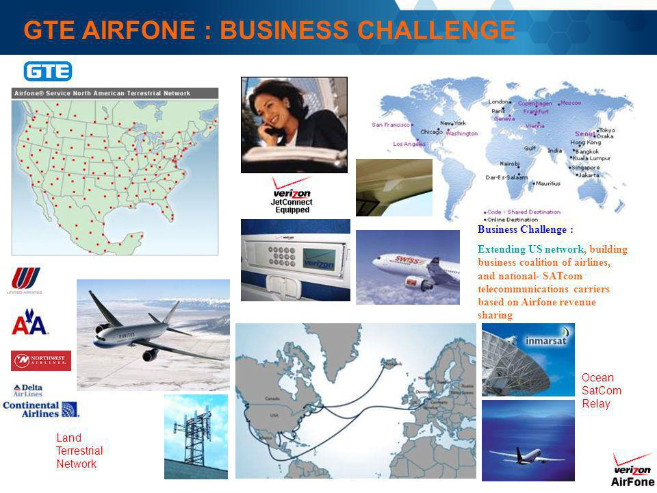 GTE AIRFONE : BUSINESS CHALLENGE