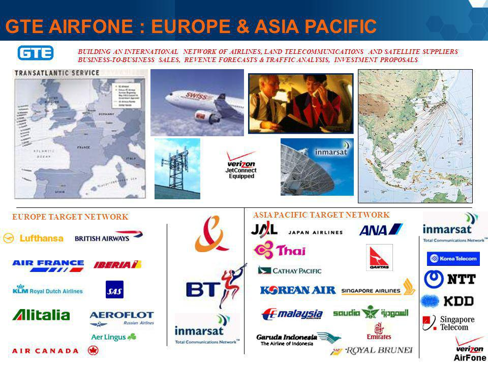GTE AIRFONE : EUROPE & ASIA PACIFIC