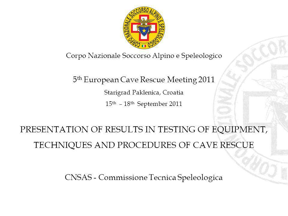 PRESENTATION OF RESULTS IN TESTING OF EQUIPMENT,