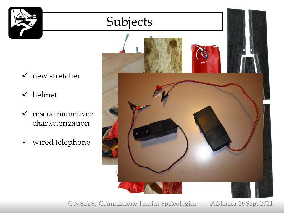 C.N.S.A.S. Commissione Tecnica Speleologica Paklenica 16 Sept 2011