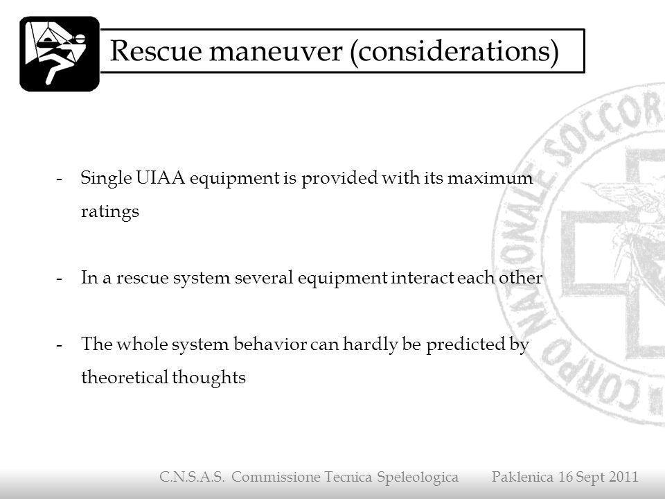 Rescue maneuver (considerations)