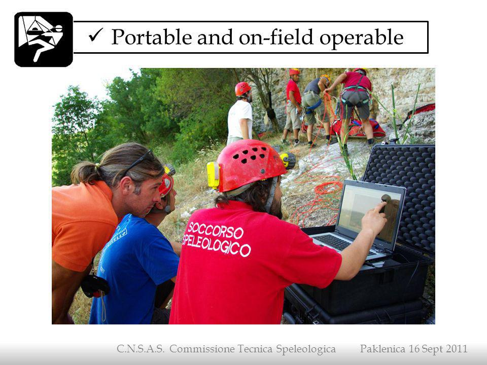 Portable and on-field operable