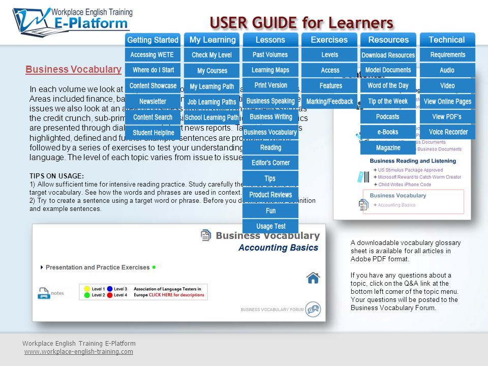 USER GUIDE for Learners ppt download