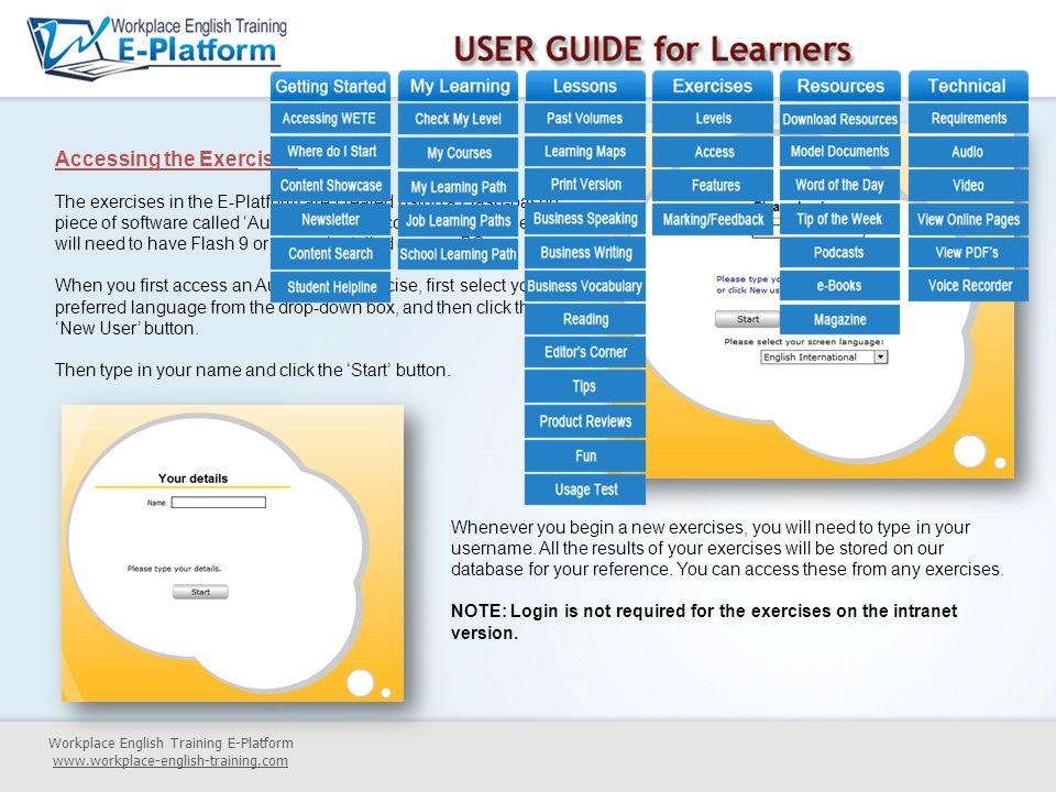 Workplace English Training E-Platform