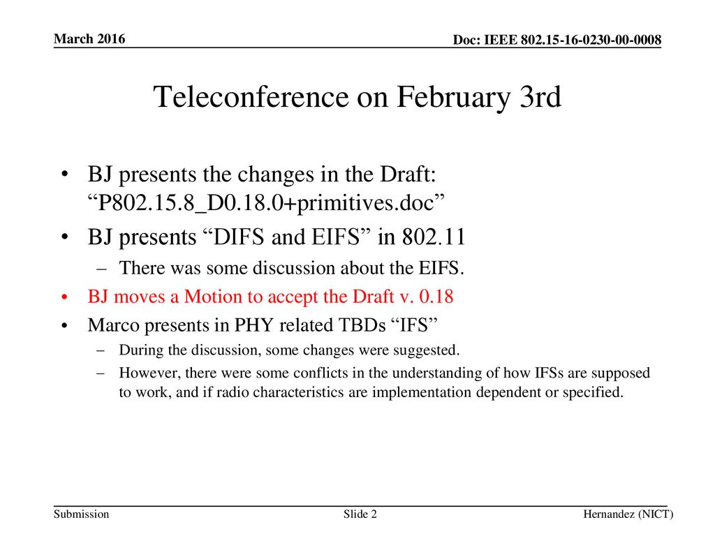 Teleconference on February 3rd