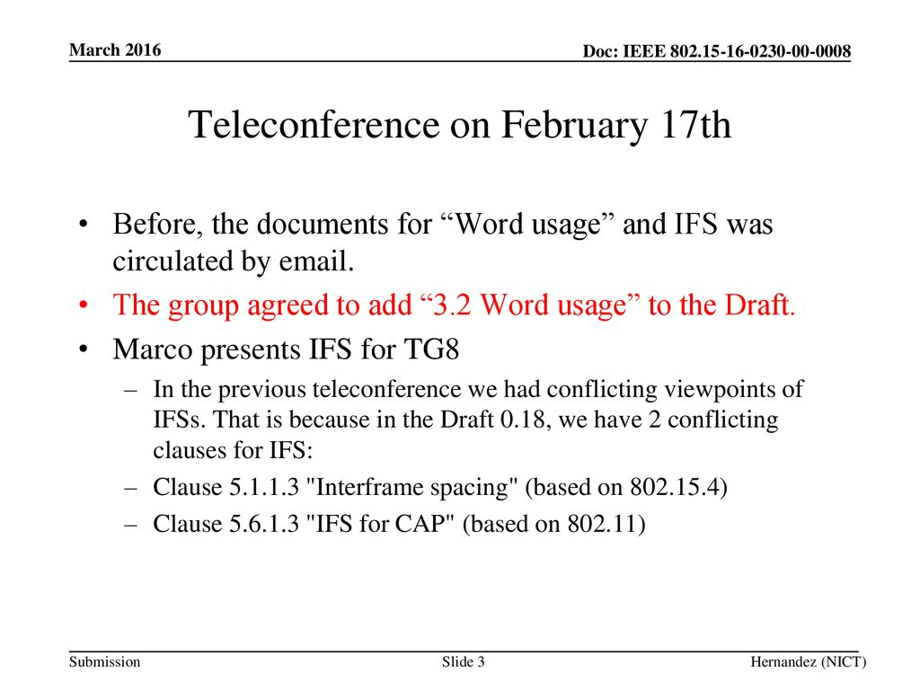 Teleconference on February 17th