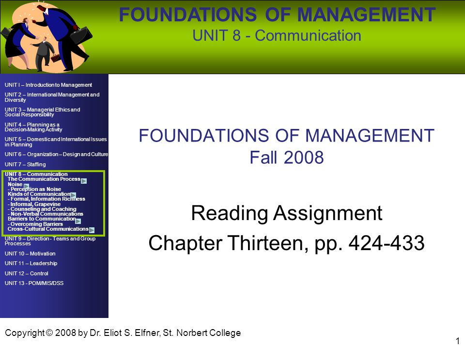FOUNDATIONS OF MANAGEMENT Fall 2008