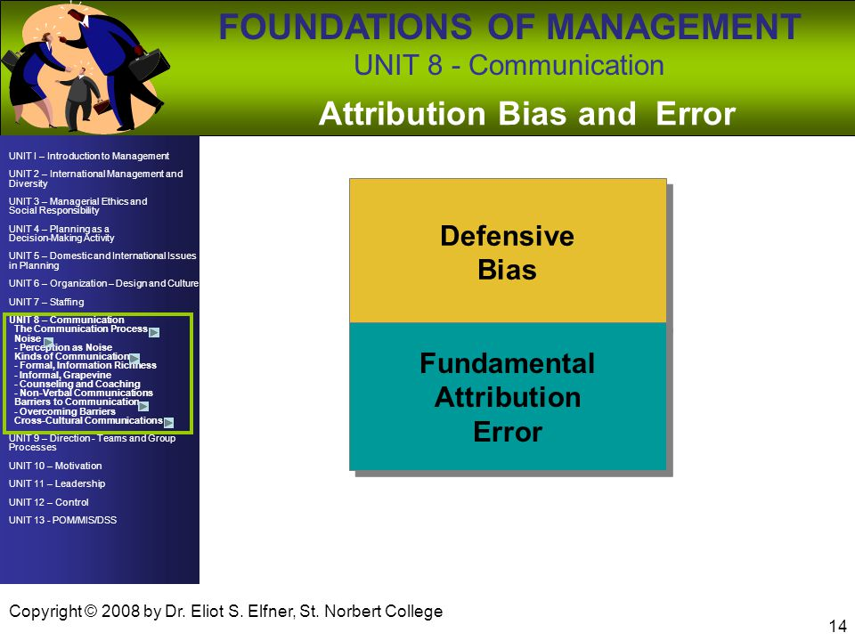 Attribution Bias and Error