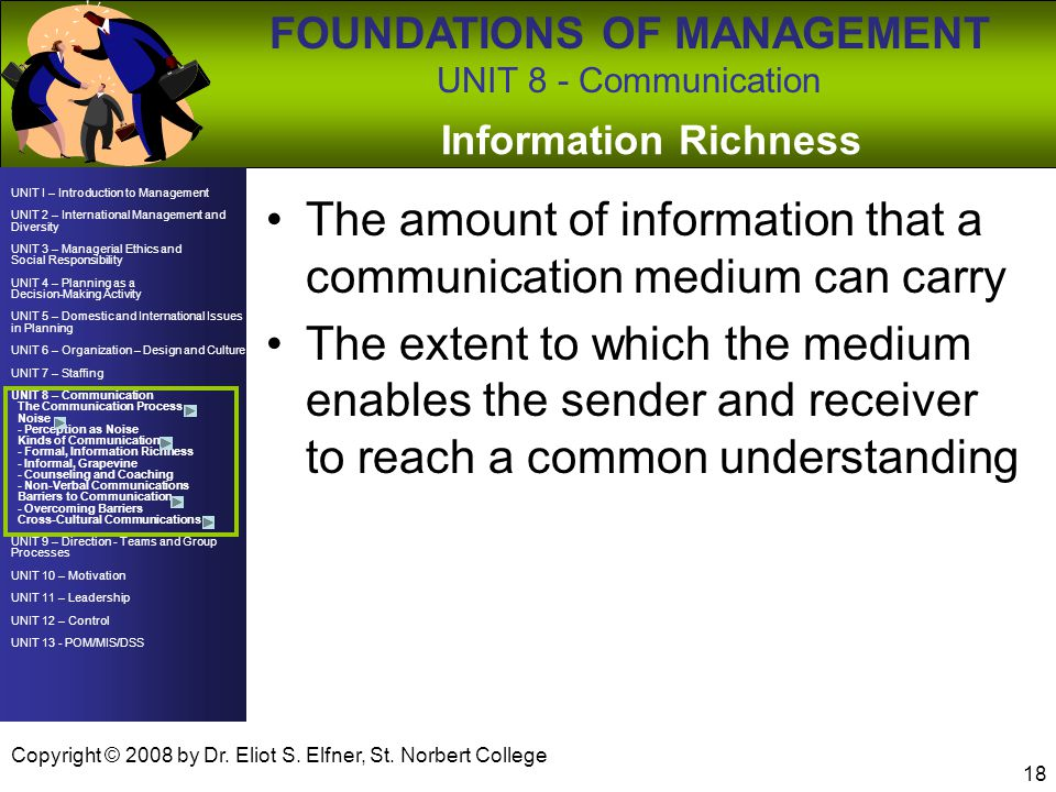 The amount of information that a communication medium can carry