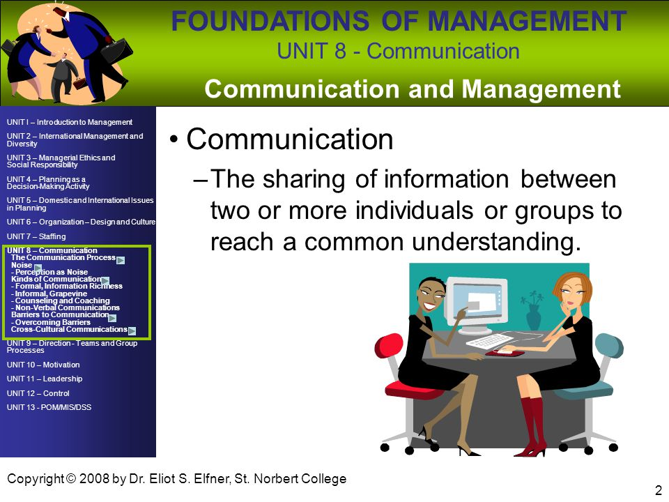 Communication and Management