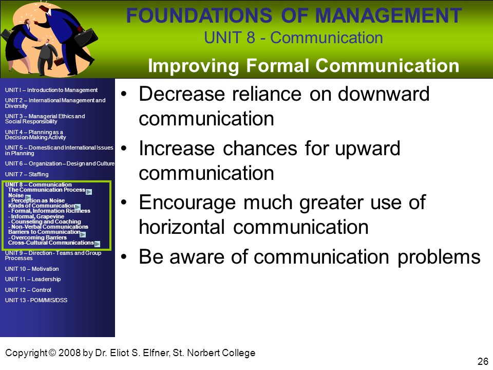 Improving Formal Communication