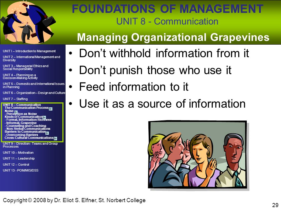 Managing Organizational Grapevines