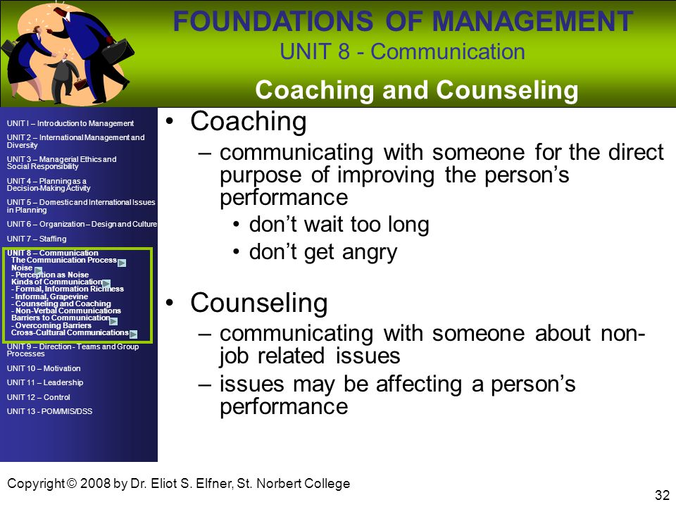 Coaching and Counseling