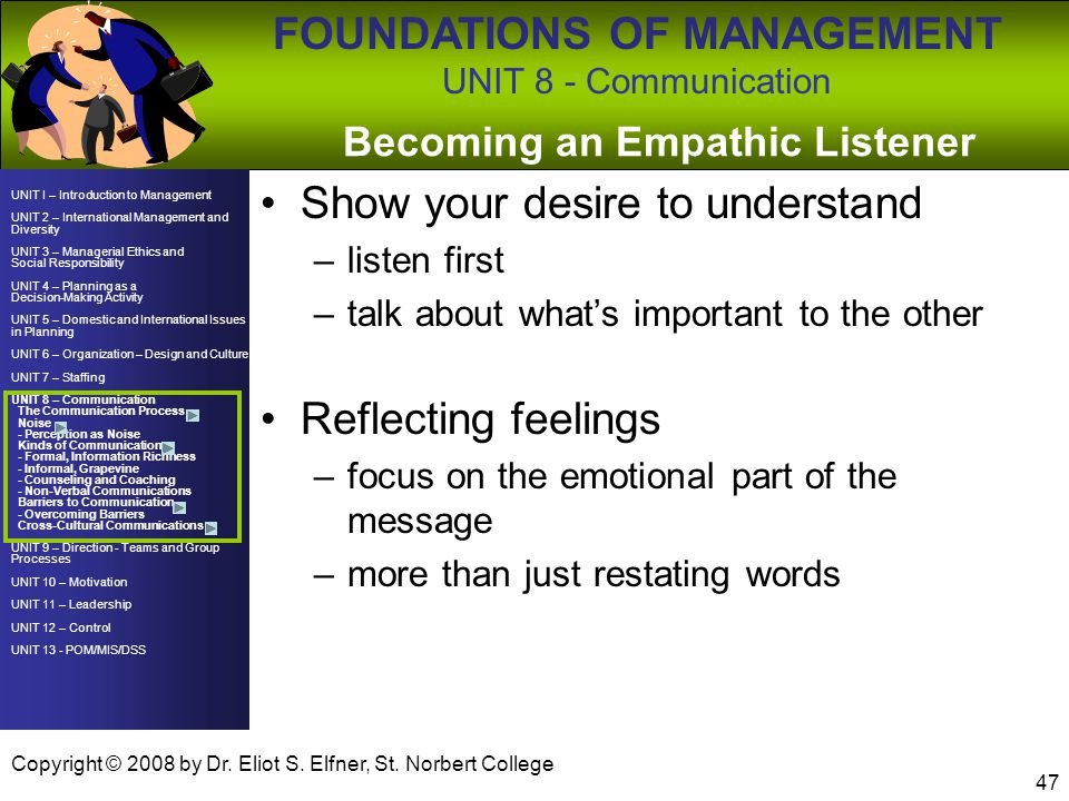 Becoming an Empathic Listener