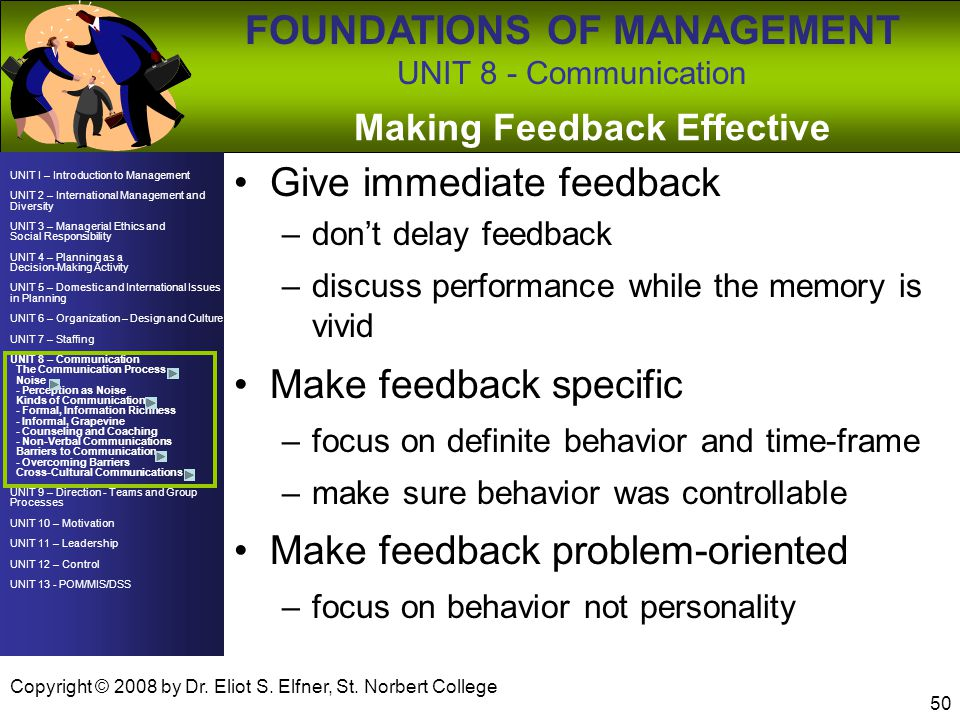 Making Feedback Effective