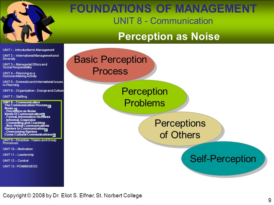 Perception as Noise Basic Perception Process Perception Problems