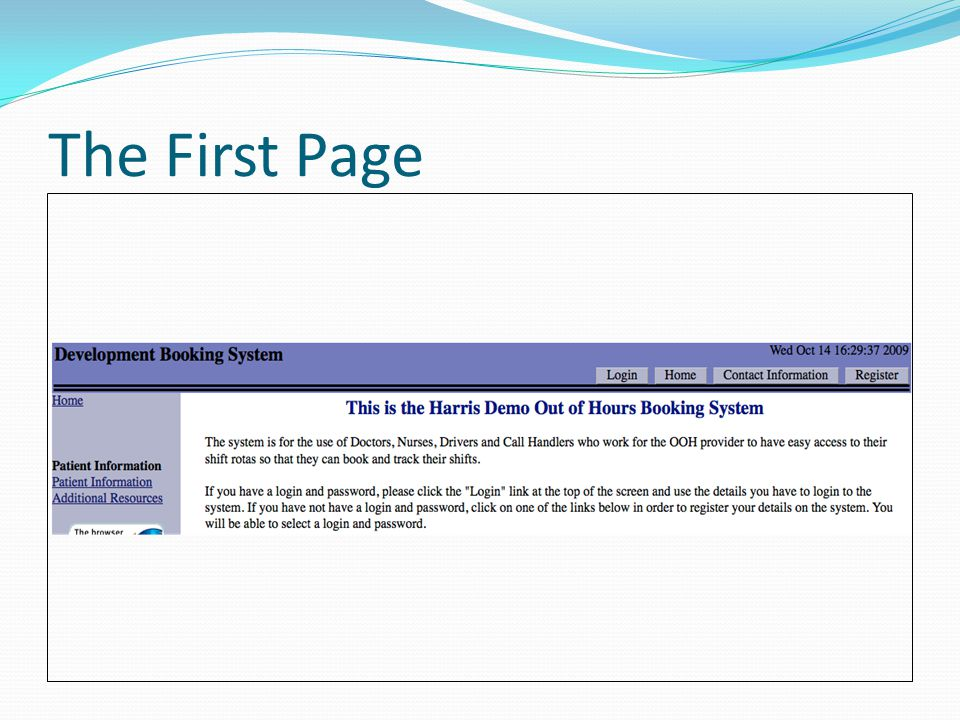 The First Page