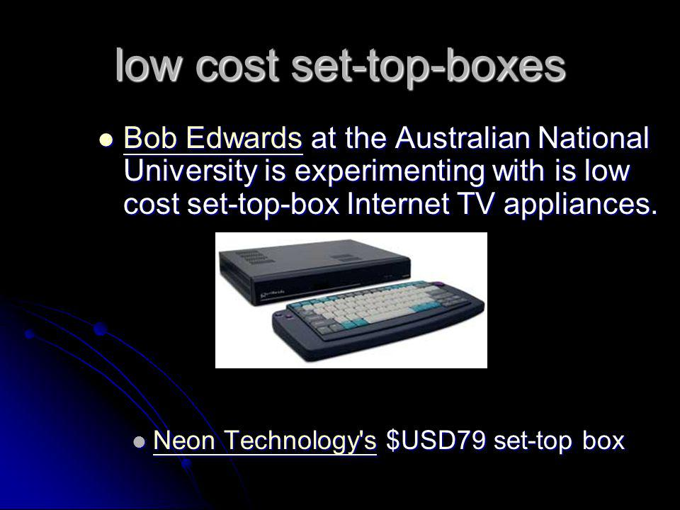 low cost set-top-boxes