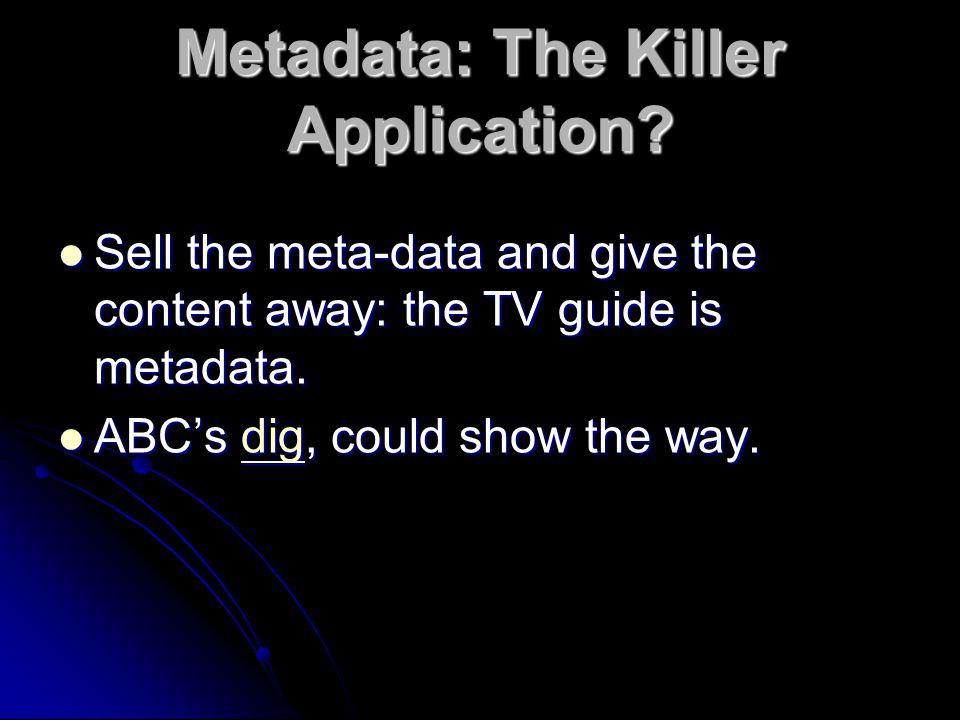 Metadata: The Killer Application
