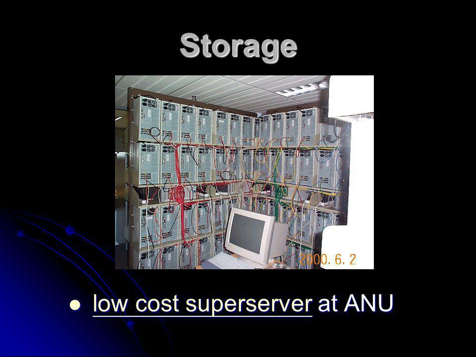 Storage low cost superserver at ANU